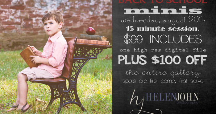back 2 school mini sessions are open for booking! | montgomery county maryland child photographer